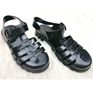 American Apparel Jelly T-Strap 90s Chunky Sandals